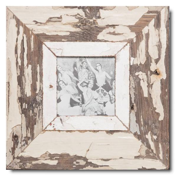Quadrat Bilderrahmen aus recyceltem Holz für Bildformat 10,5 x 10,5 aus Kapstadt