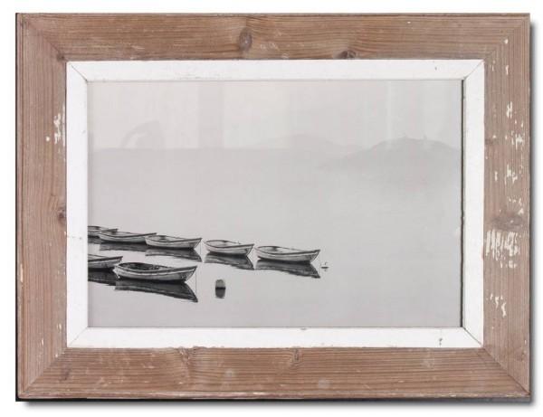 Bilderrahmen aus recyceltem Holz für Bildgröße DIN A3 aus Kapstadt