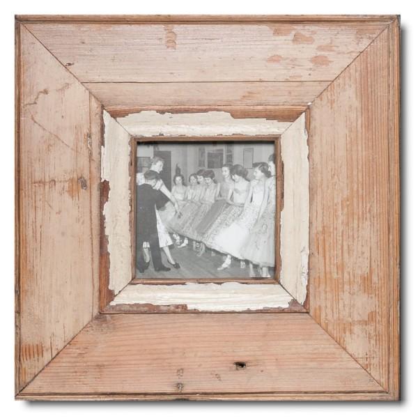 Quadrat Bilderrahmen aus recyceltem Holz für Bildgröße DIN A6 Quadrat