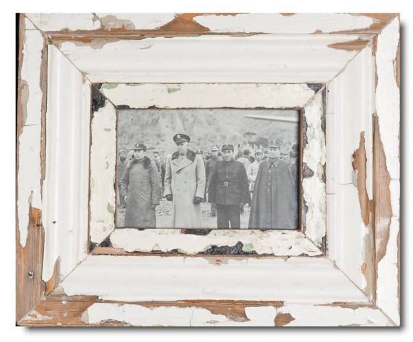 Bilderrahmen aus recyceltem Holz für Fotogröße DIN A6 aus Südafrika