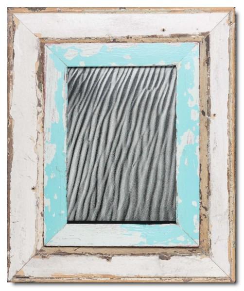 Breiter Bilderrahmen aus recyceltem Holz für Bildgröße DIN A4