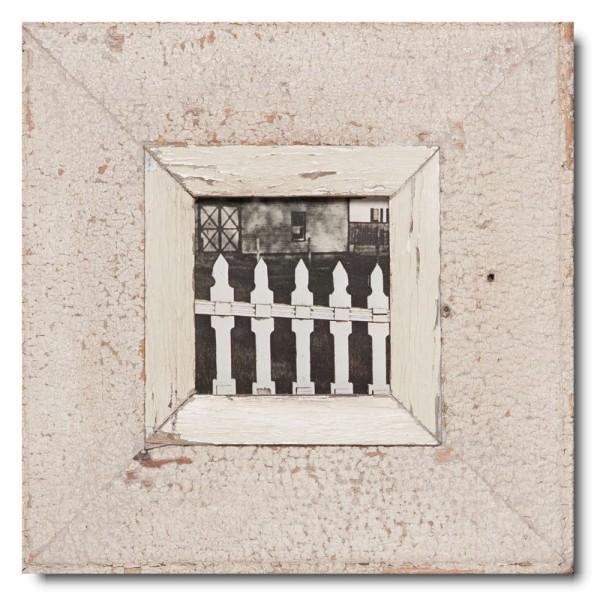 Quadratischer Vintage Bilderrahmen für Fotogröße DIN A6 Quadrat