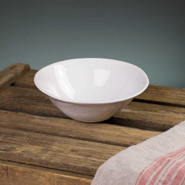 Organic Suppenschale - weiß glasierter Rand