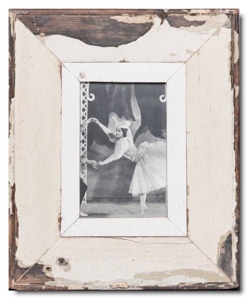 Bilderrahmen aus recyceltem Holz für Fotoformat 10,5 x 14,8 cm aus Südafrika
