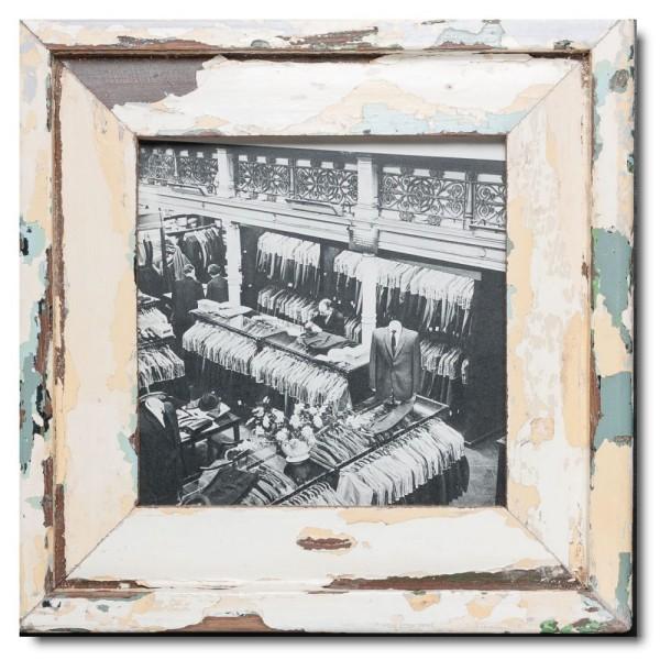 Quadrat Bilderrahmen aus recyceltem Holz für Bildgröße 21 x 21