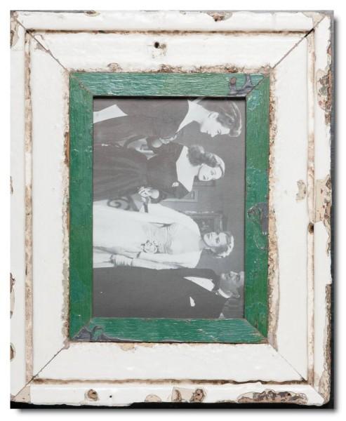 Bilderrahmen aus recyceltem Holz für Fotogröße 14,8 x 21 cm