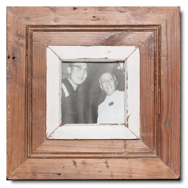Quadrat Bilderrahmen aus recyceltem Holz für Bildformat 10,5 x 10,5