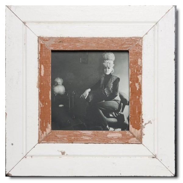 Quadrat Bilderrahmen aus recyceltem Holz für Bildformat DIN A5 Quadrat