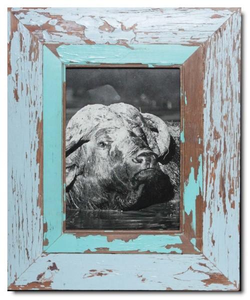 Breiter Bilderrahmen aus recyceltem Holz für Bildgröße DIN A4 von Luna Designs