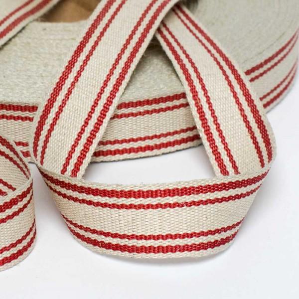 25mm Textilband aus Flachs