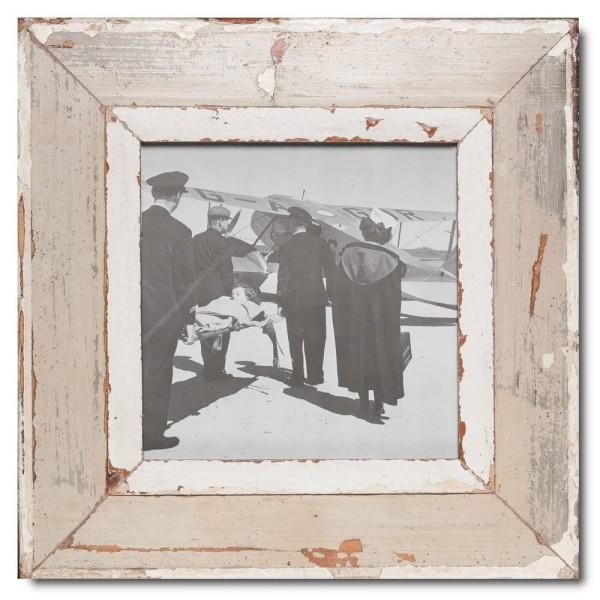 Quadrat Bilderrahmen aus recyceltem Holz für Fotogröße 21 x 21