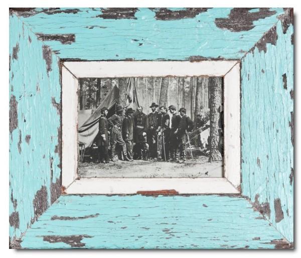 Breiter Bilderrahmen aus recyceltem Holz für Fotoformat 21 x 14,8 cm